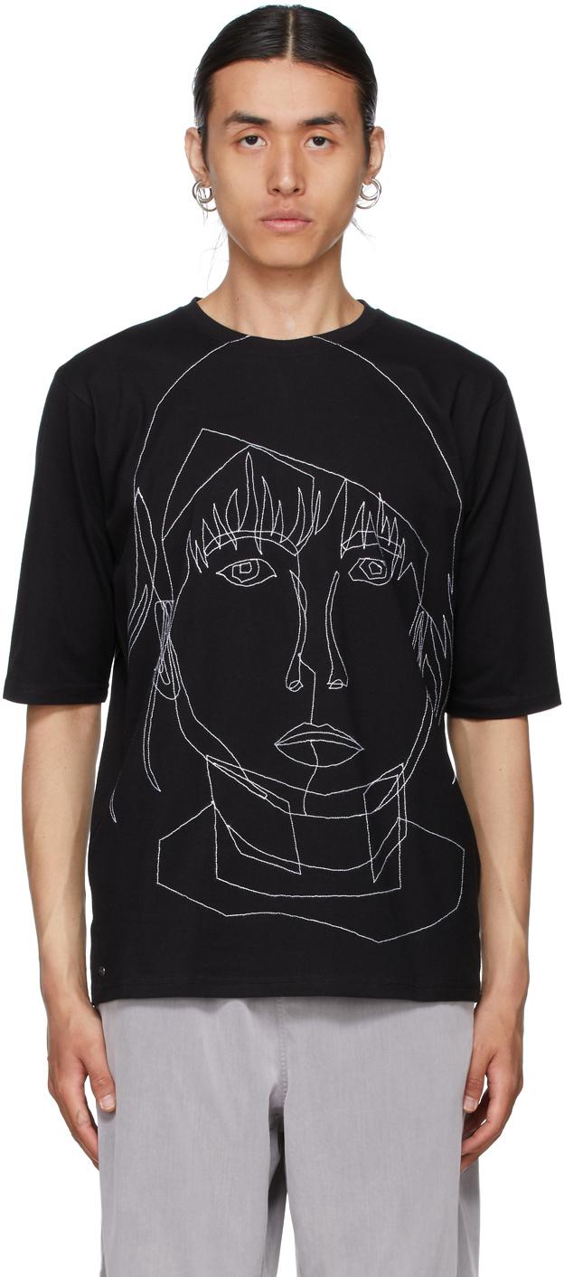 Black Stitched Starcut II T-Shirt