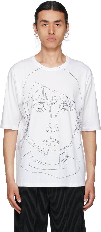 White Stitched Starcut II T-Shirt