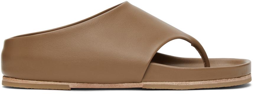 Taupe Tri Slide Sandals