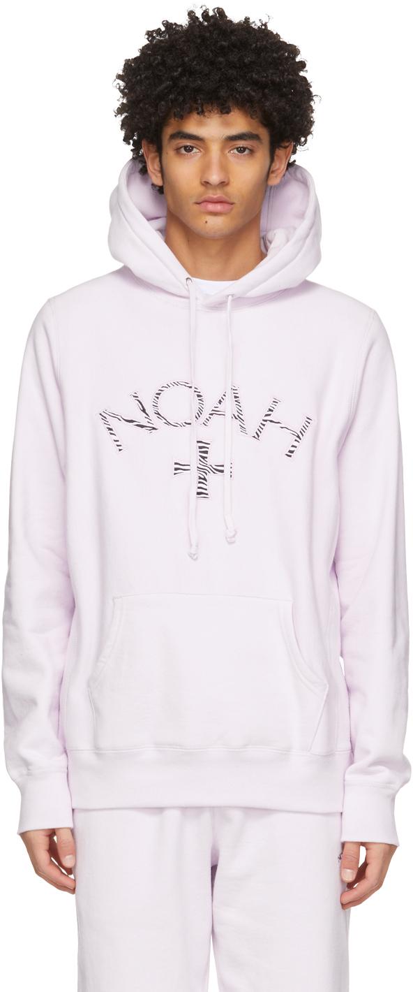 Noah NYC パープル Zebra Core ロゴ フーディ