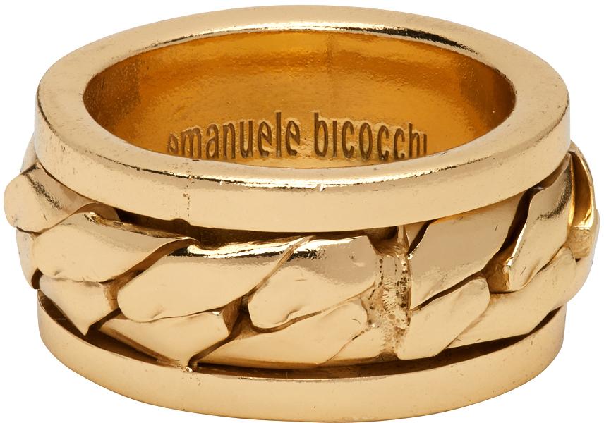 Emanuele Bicocchi 金色 Chain 戒指