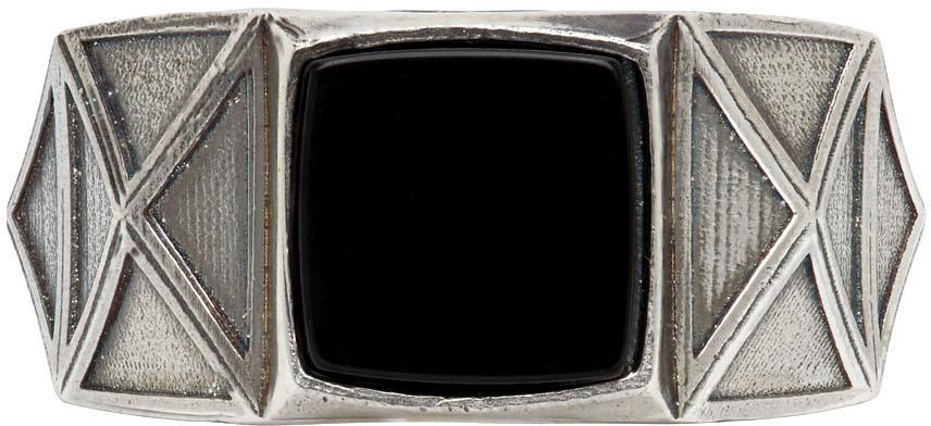 Emanuele Bicocchi 银色 Square 戒指