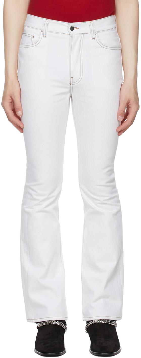 AMIRI White Flare Leg Jeans