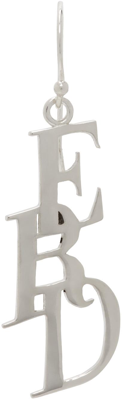 Silver Small E.R.D. Earring