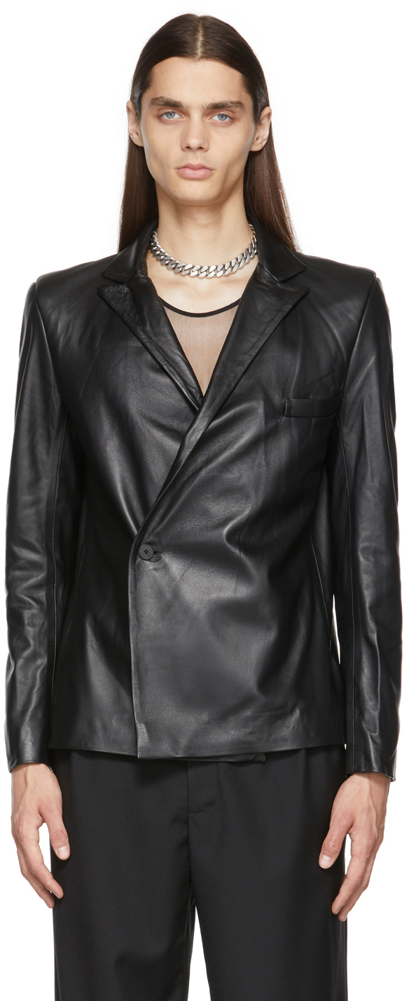 Black Leather Frankie Teardrop Jacket