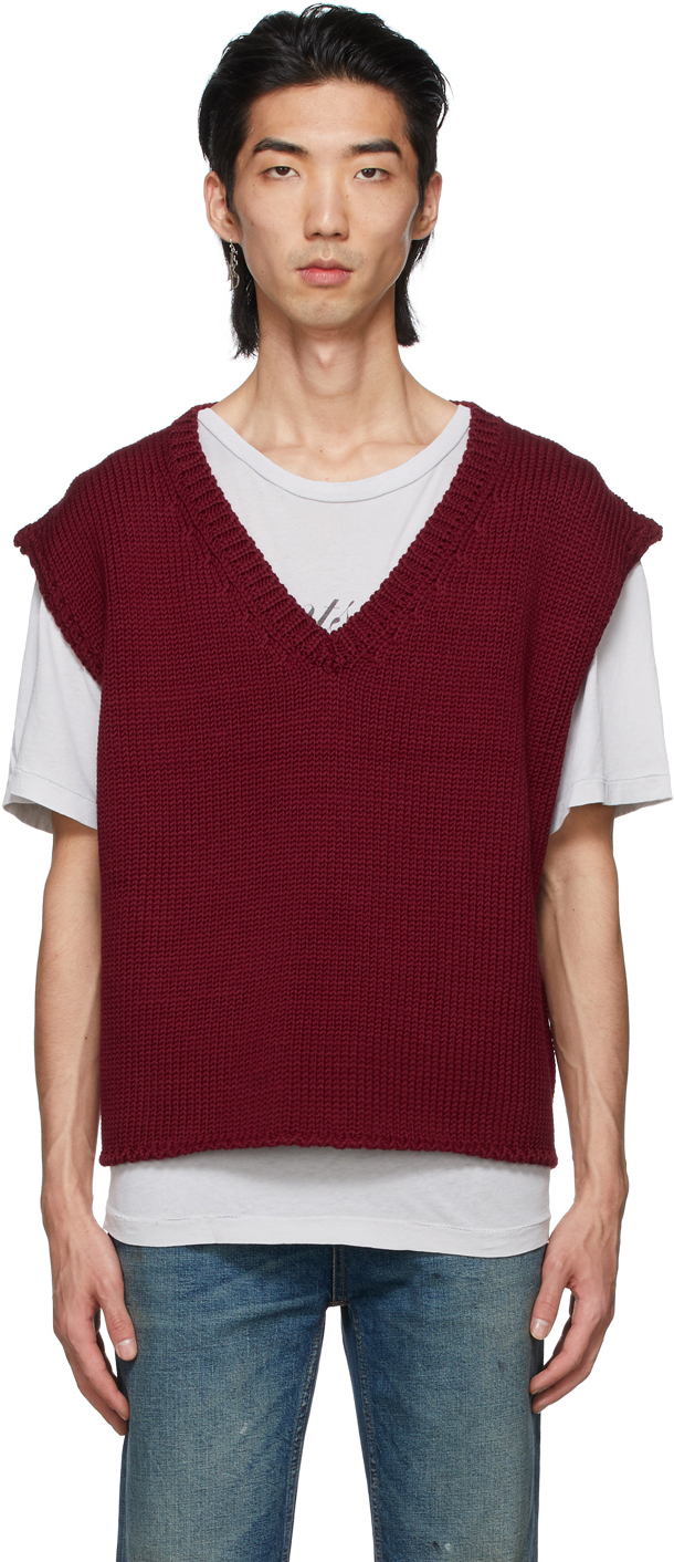 Red Wool Sweater Vest