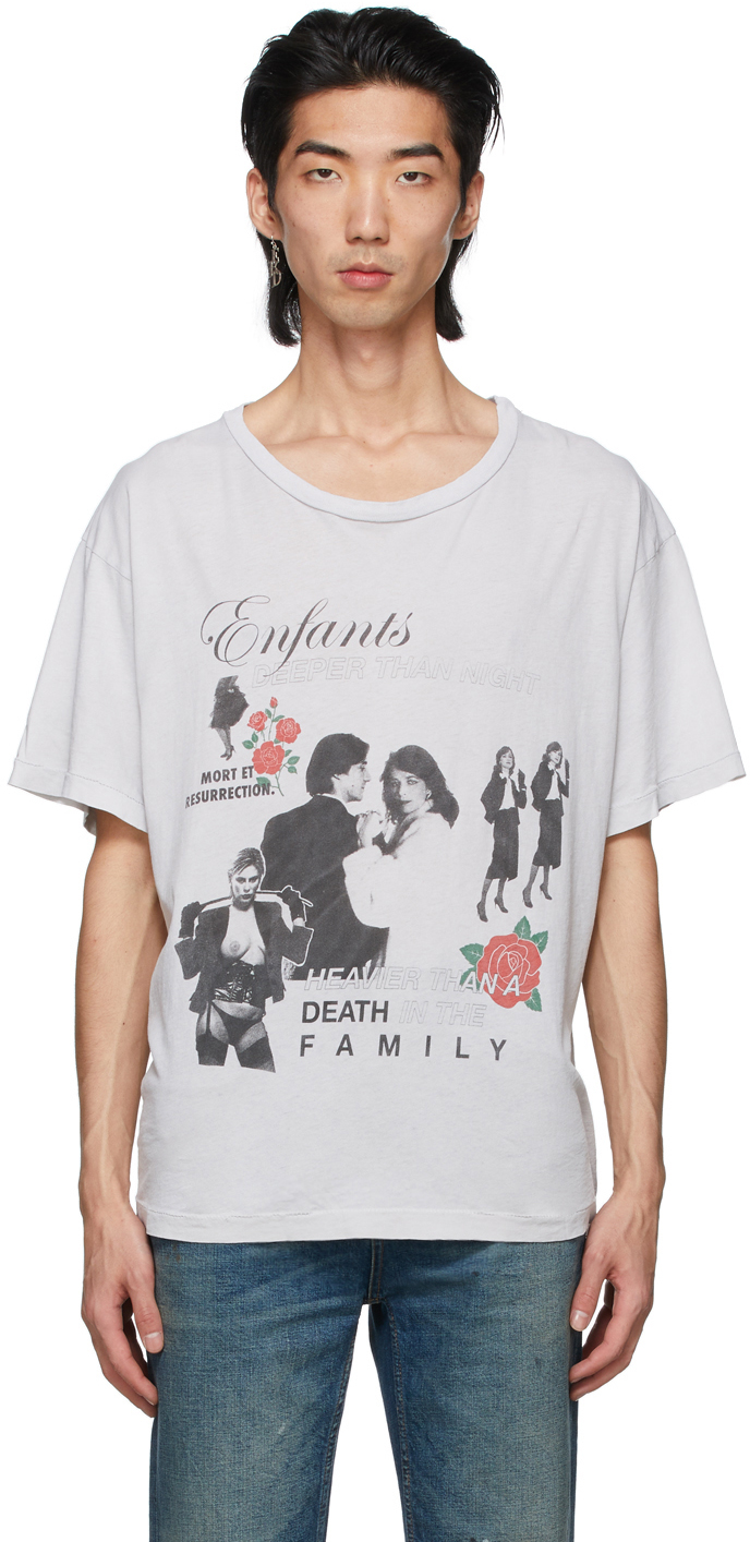 Grey 'Mort Et Resurrection' T-Shirt