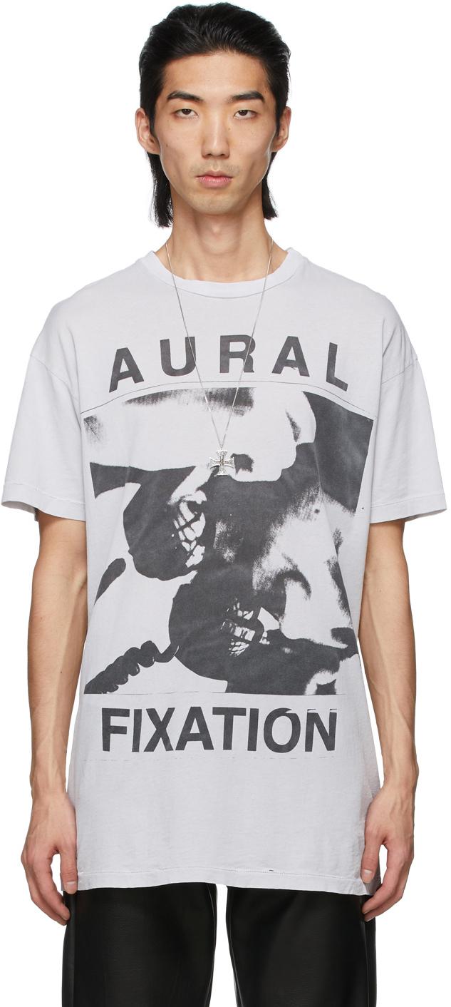 Grey 'Aural Fixation' T-Shirt