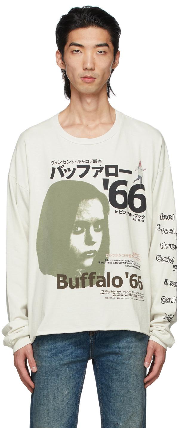 Enfants Riches Deprimes Off-white Japanese Buffalo '66 Long Sleeve T-shirt In Ivory