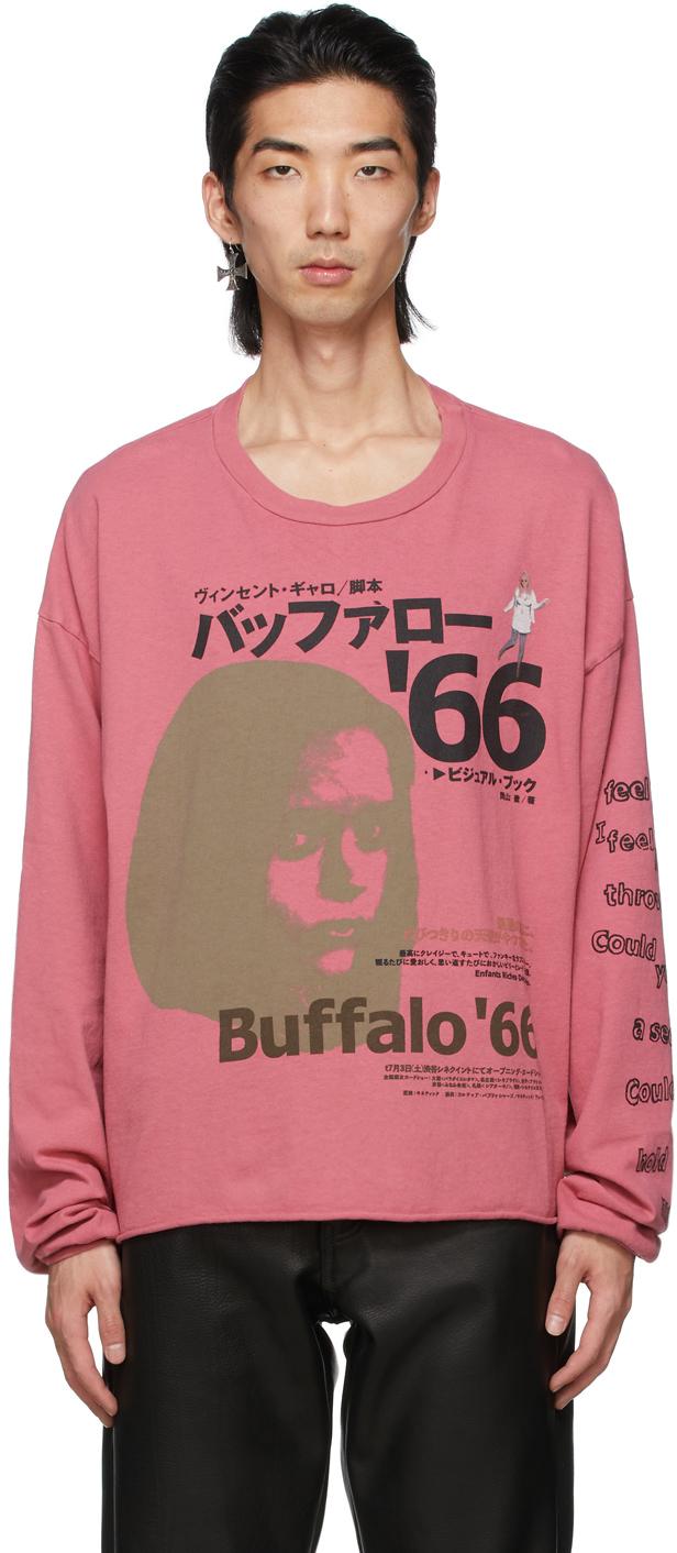 Pink Japanese Buffalo '66 Long Sleeve T-Shirt