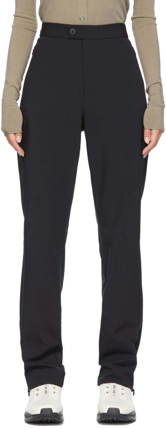 * Black Technical Tailored Trousers
