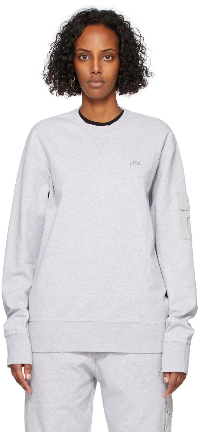 * Grey Essential Crewneck Sweatshirt