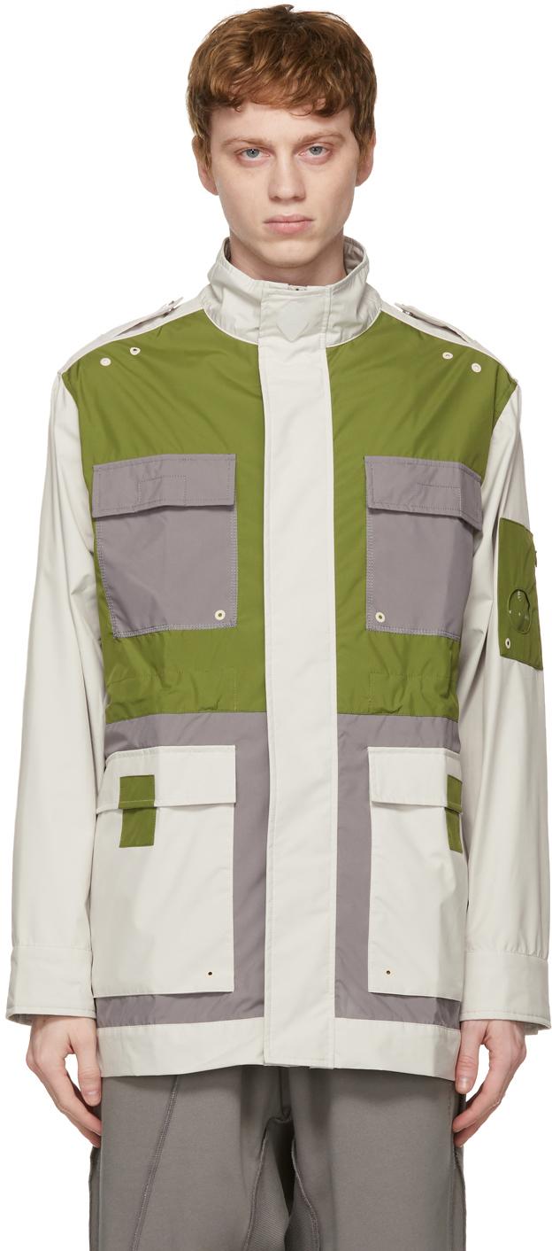 * Off-White & Green 3L Model 4 Jacket