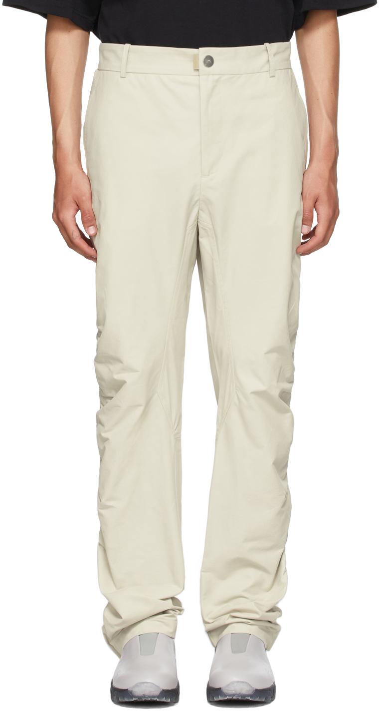* Beige Ruche Technical Trousers