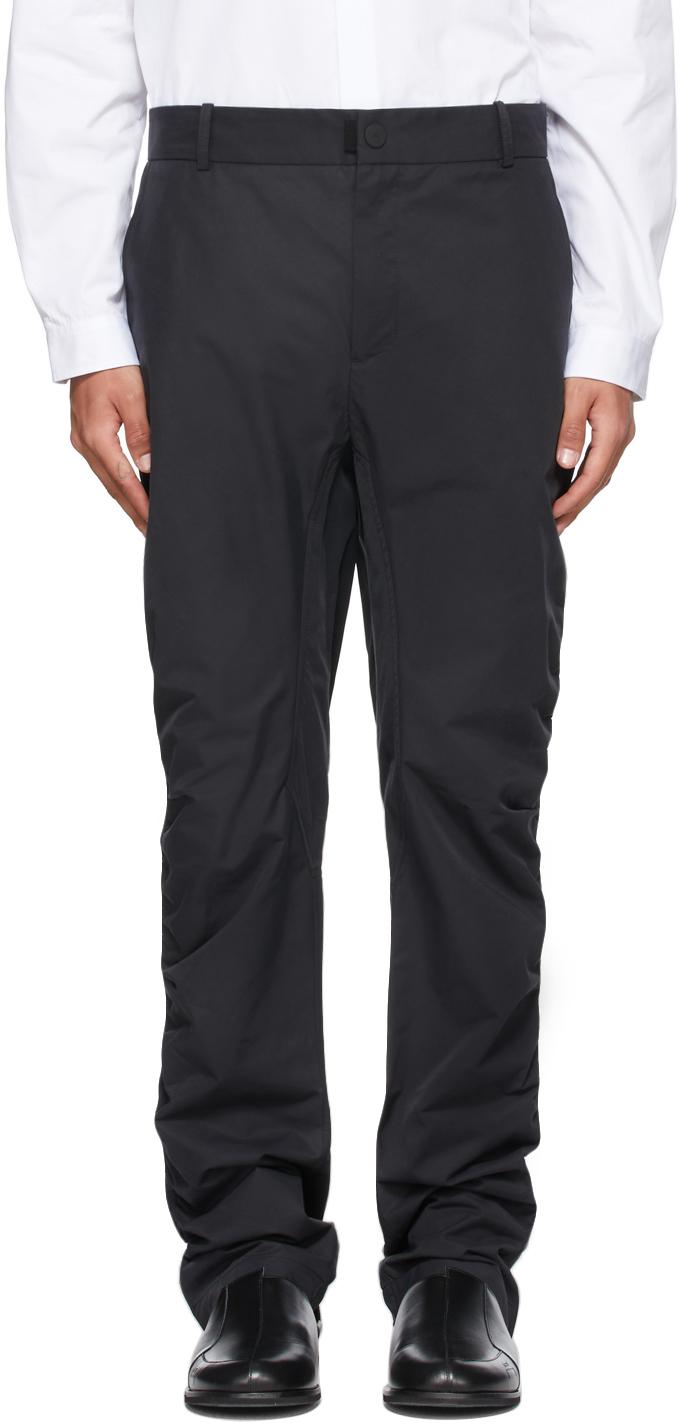 * Black Ruche Technical Trousers