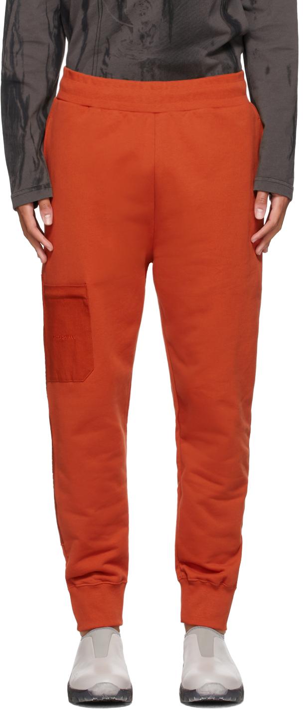 * Orange Logo Embroidery Lounge Pants
