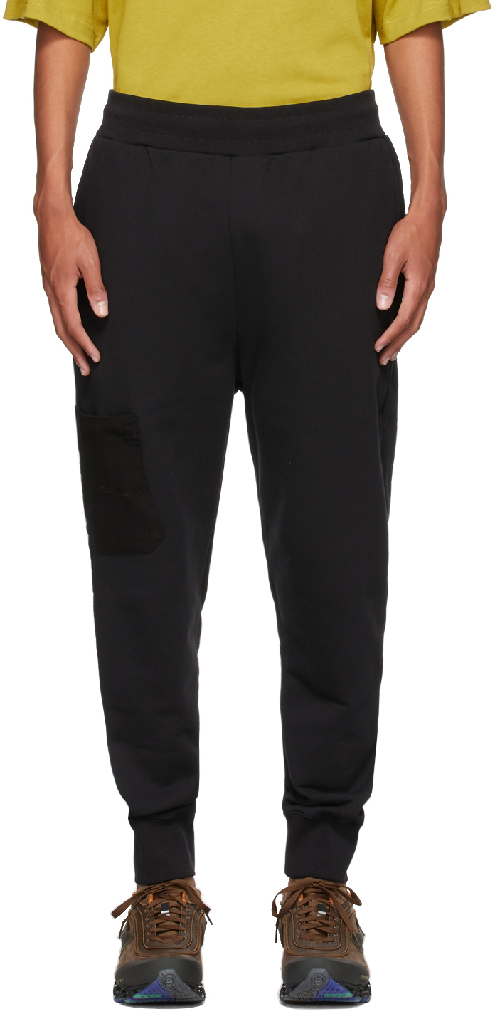 * Black Logo Embroidery Lounge Pants