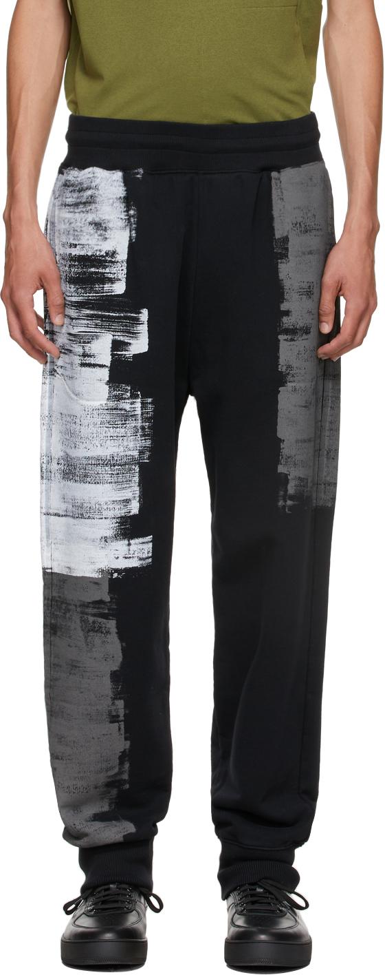* Black Brush Stroke Lounge Pants