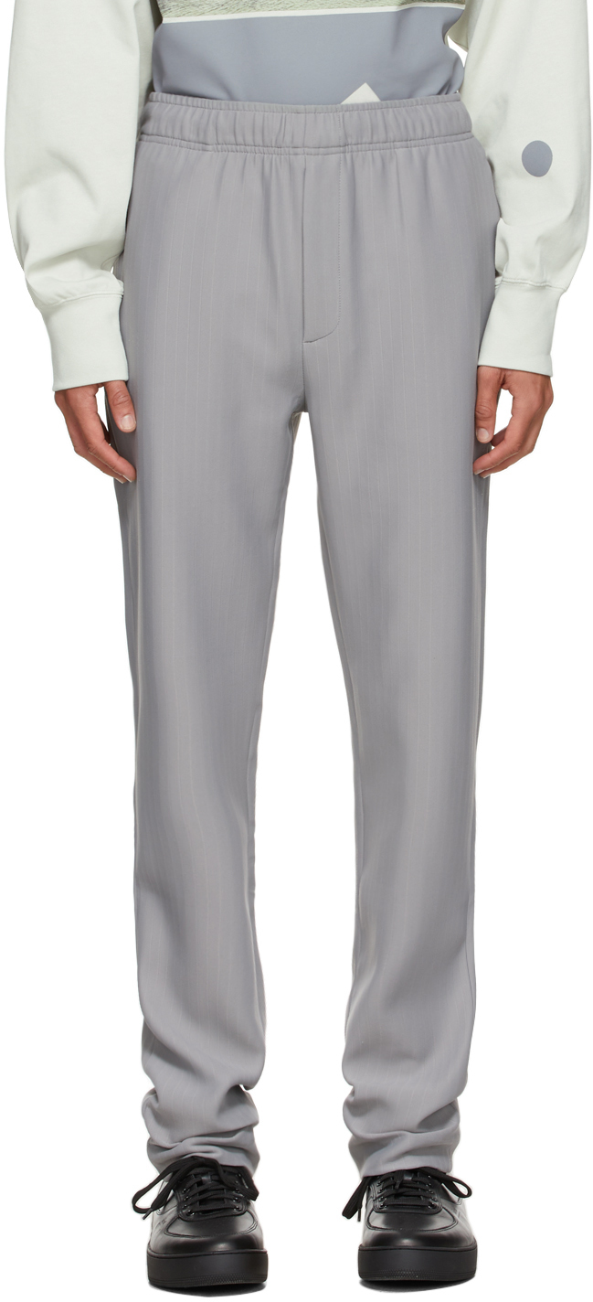 * Grey Purl Tailored Trousers