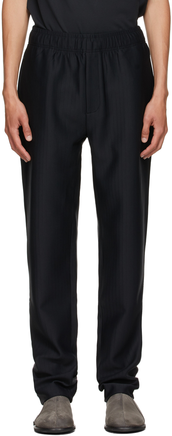* Black Purl Tailored Trousers