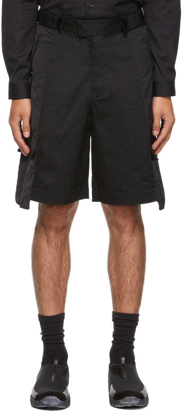 * Black Strata Cargo Shorts