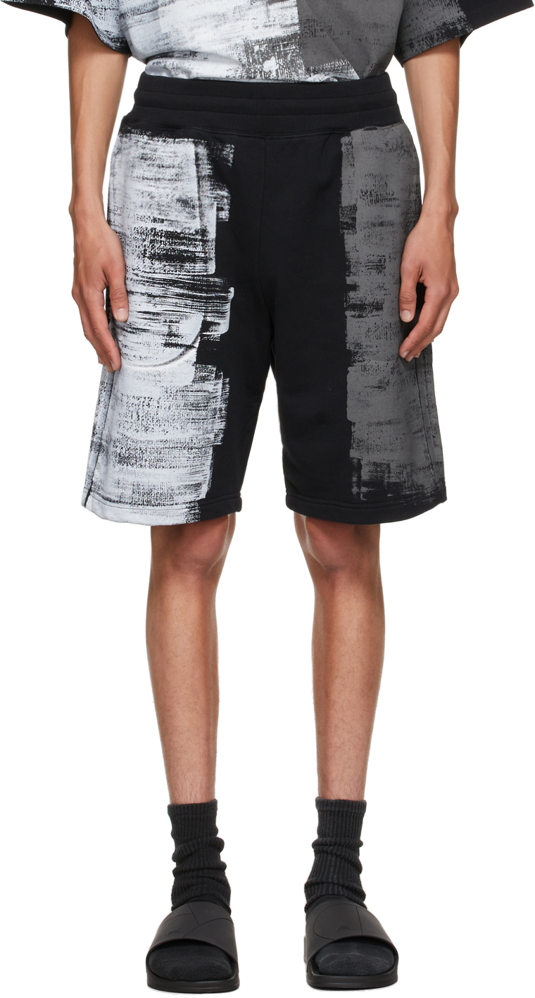 * Black Brush Stroke Shorts