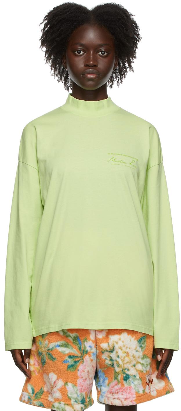 Green Classic Logo Long Sleeve T-Shirt