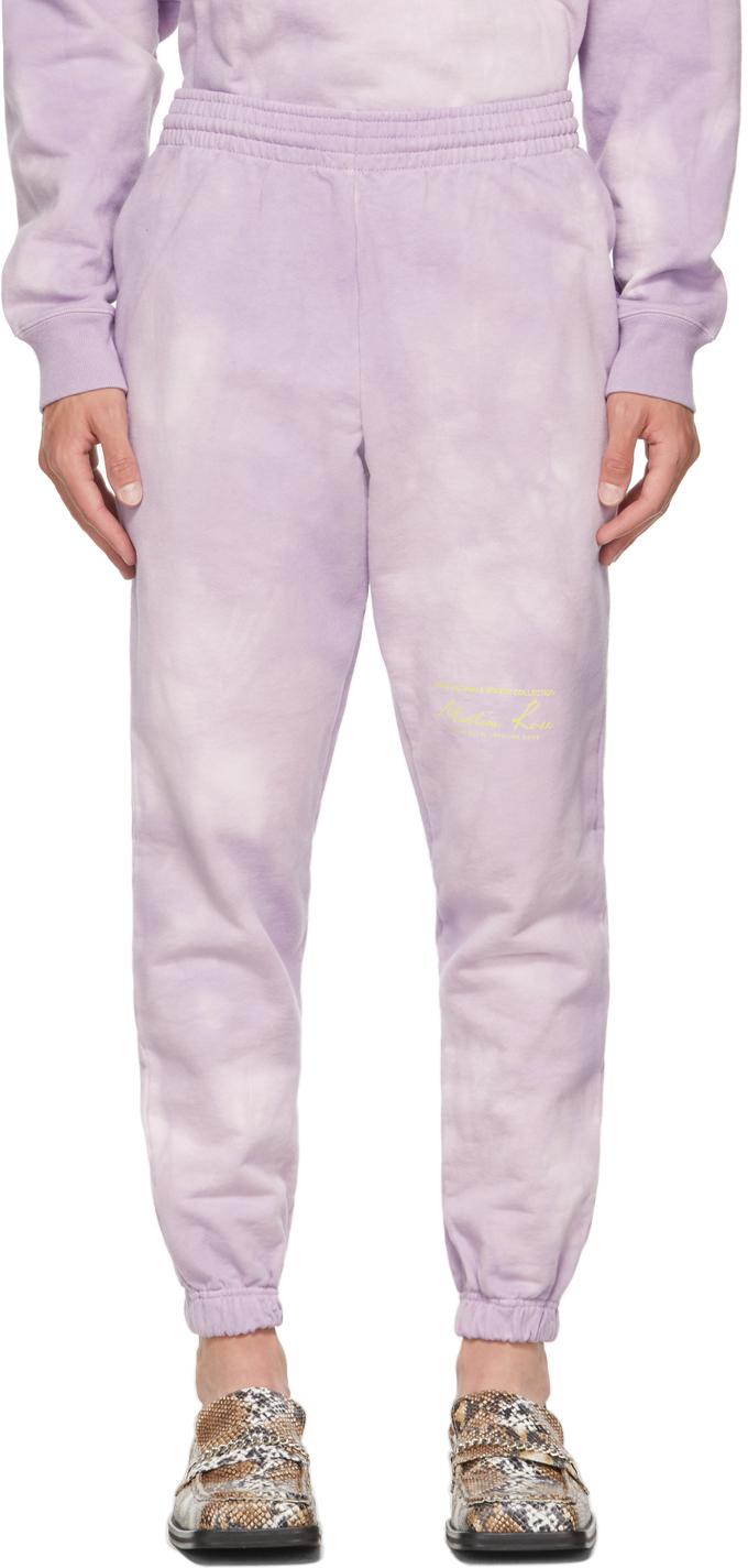 Purple Tie-Dye Slim Logo Sweatpants