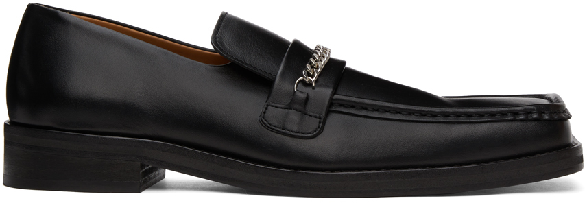 Black Square Toe Loafers