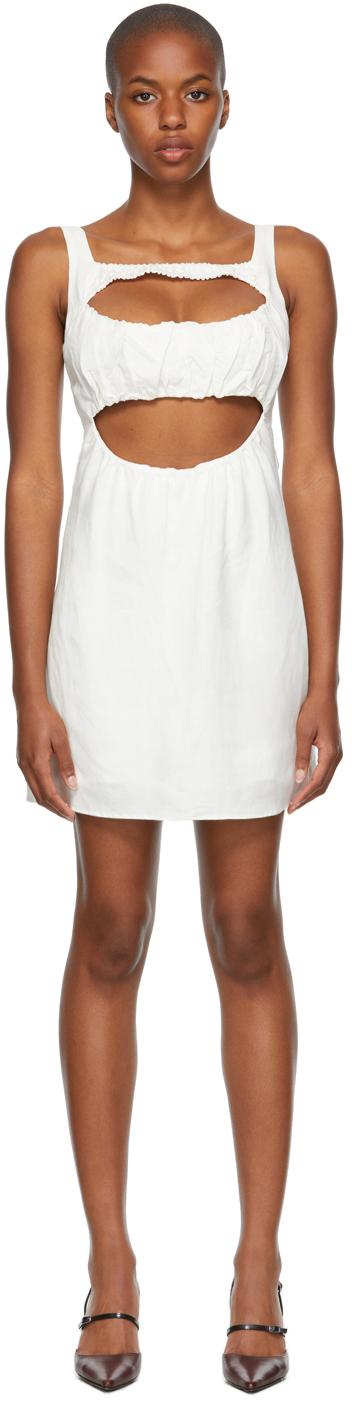 White Linen 'Le Jardin' Dress