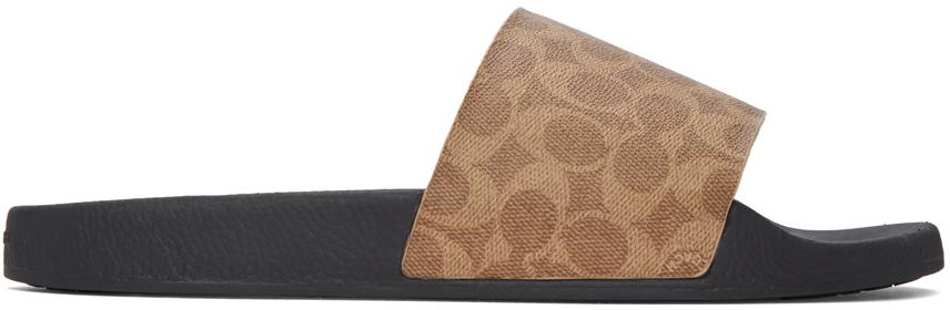 Khaki Signature Slip-On Sandals