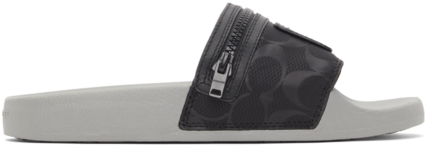 Black Nylon Pocket Sandals