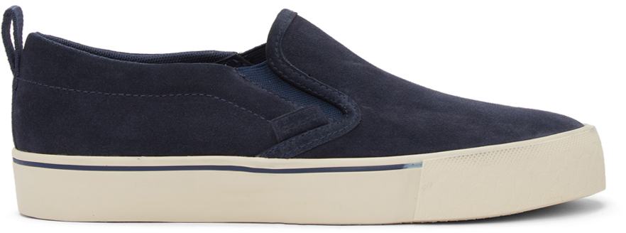 Navy Suede Citysole Skate Slip-On Sneakers