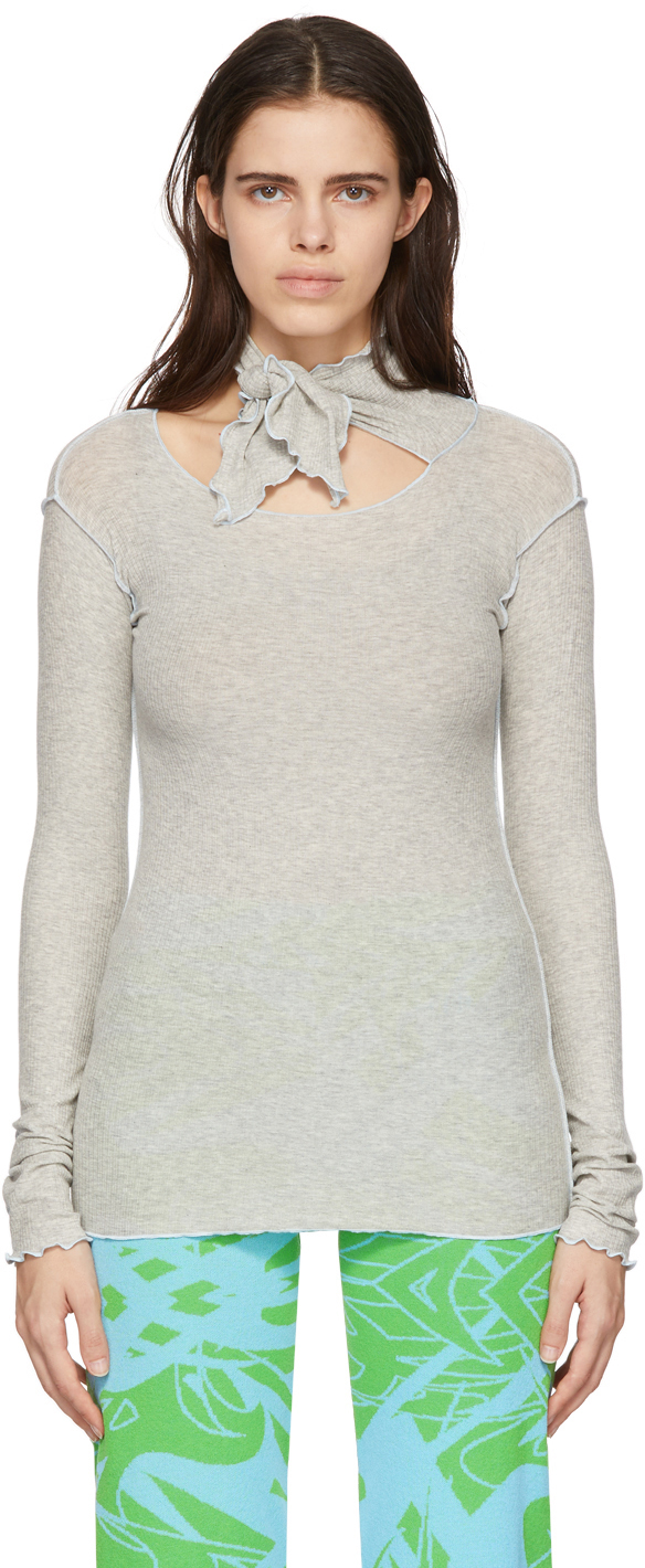 Grey Pava Long Sleeve T-Shirt