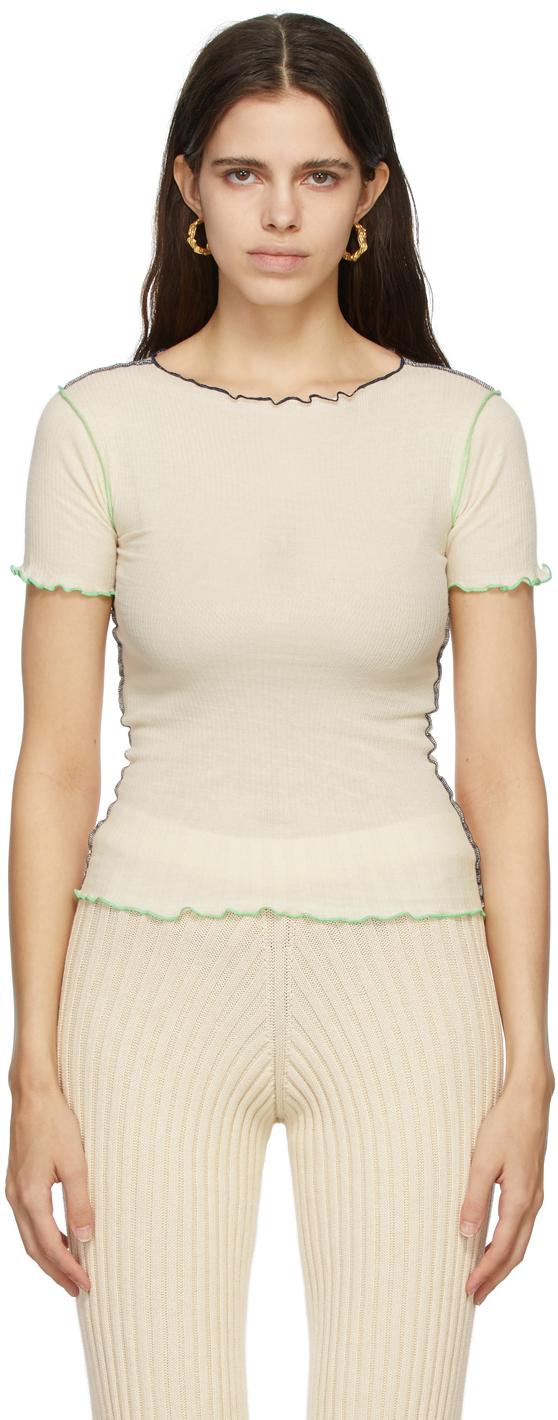 Off-White & Green Vein T-Shirt
