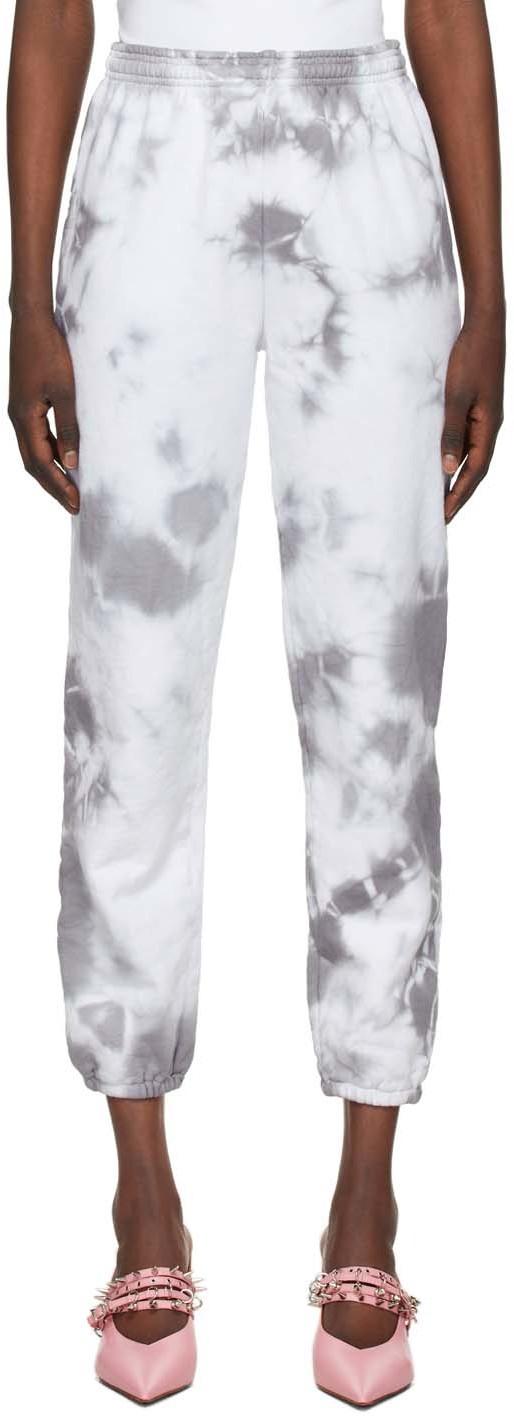 Ashley Williams White & Grey Planet Earth Lounge Pants