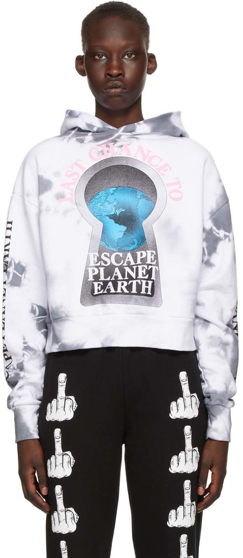 Ashley Williams White & Grey Planet Earth Hoodie