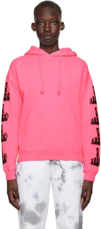 Pink Biker Ladies Hoodie