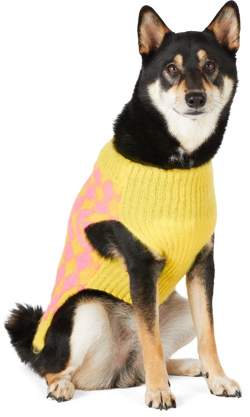 SSENSE Exclusive Yellow & Pink Intarsia Mohair Sweater