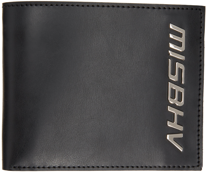 MISBHV 黑色徽标双折钱包