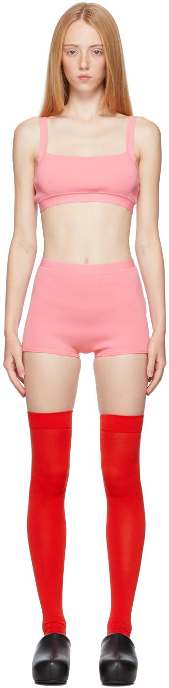 Pink Knit Zola Lingerie Set