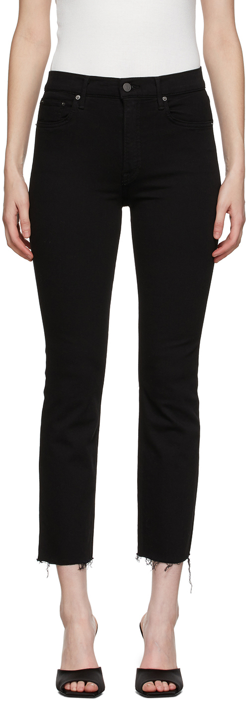 Black Raw Cuff Reed Jeans