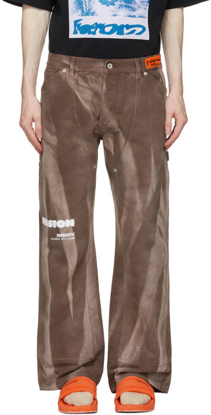 Brown Caterpillar Edition Carpenter Jeans