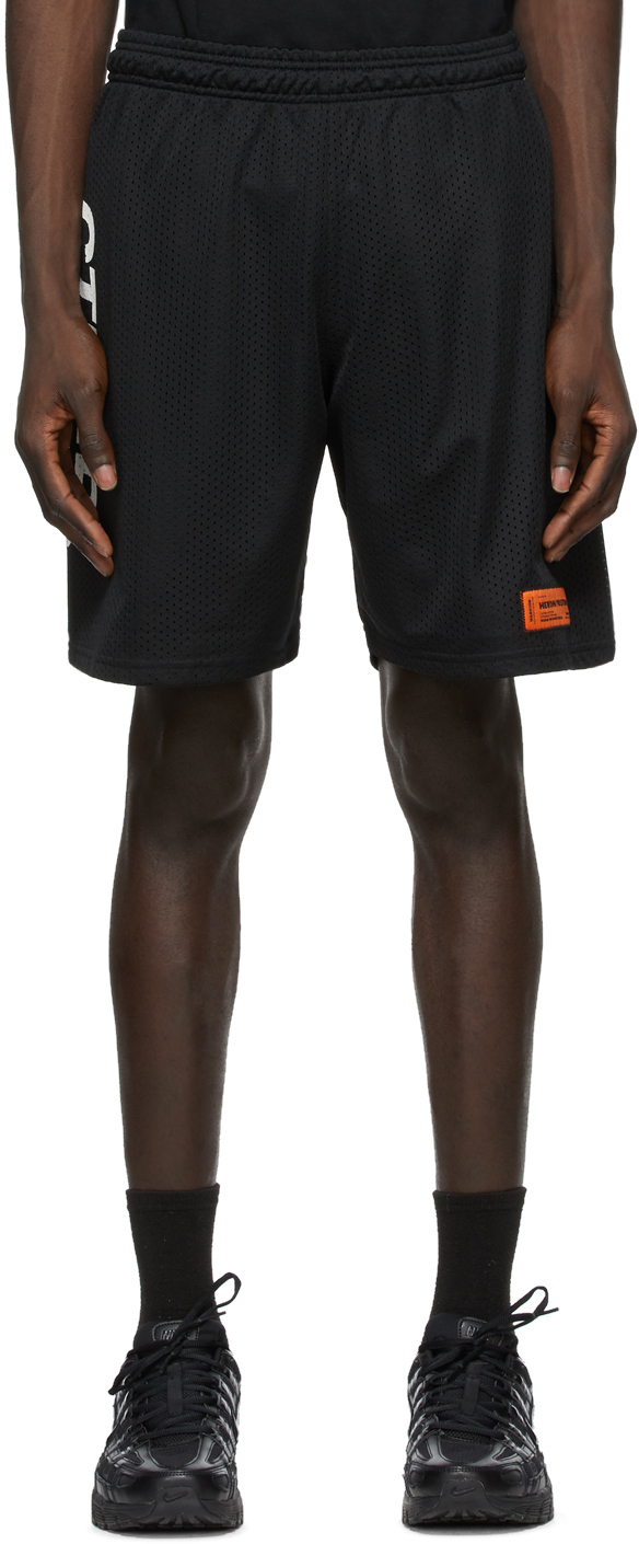 Black & White Logo Basket Shorts