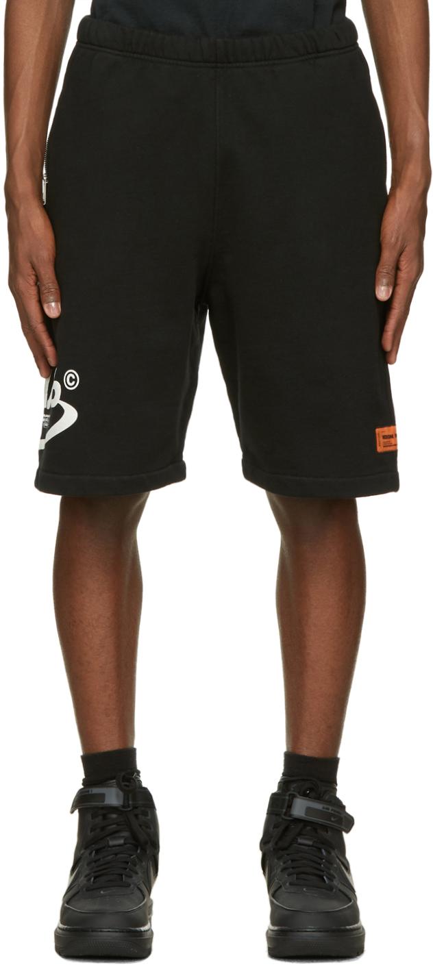 Black 'Style' Sweat Shorts