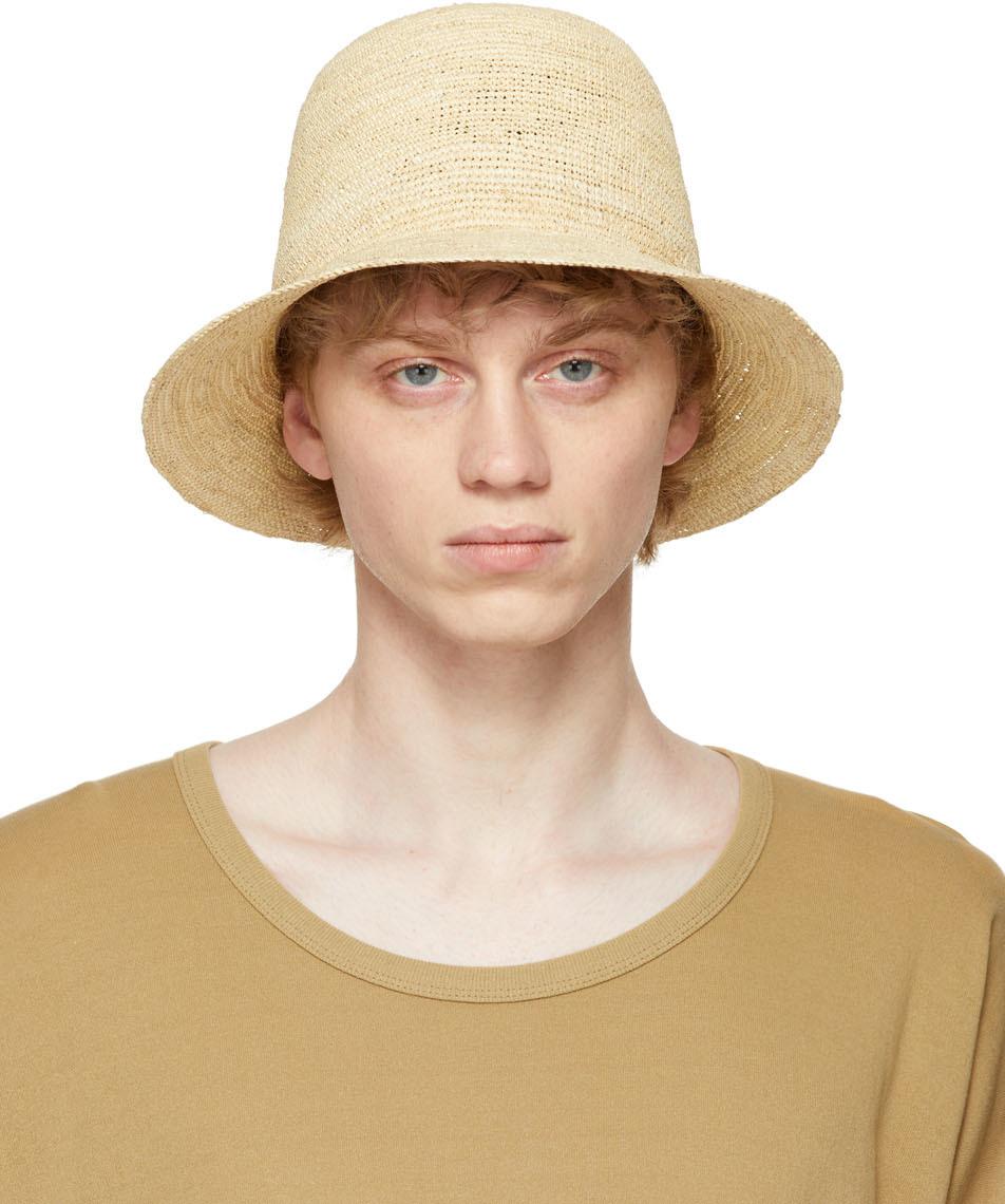 Jan-Jan Van Essche 米色钩针编织草帽