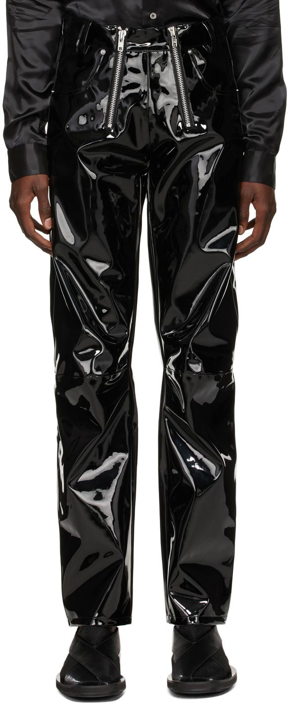 Black Vinyl Thor Trousers