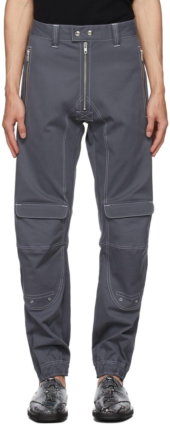 Grey Twill Yolanda Trousers