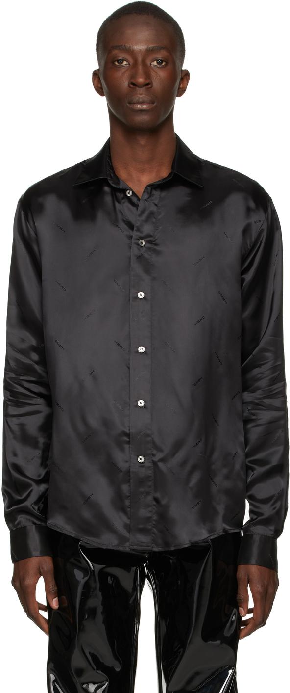 Black Jacquard Print Asmud Shirt