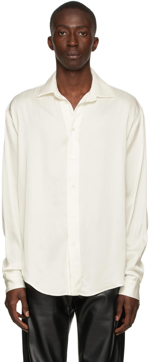 Off-White Satin Shirt